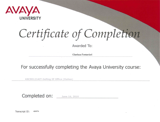 Avaya University course: Selling IP Office